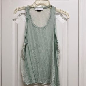 Diesel green acid wash tank top
